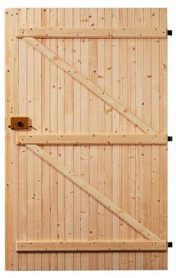 Porte garage rustique - Faire une porte en bois ...