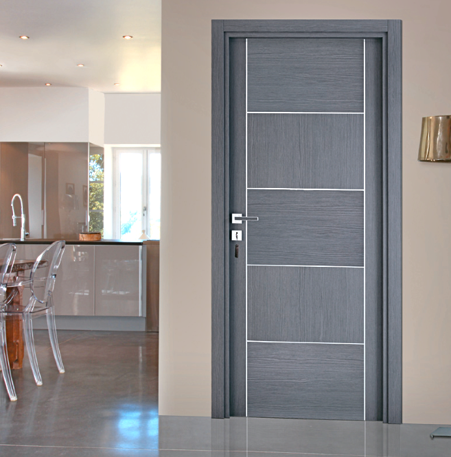 Bloc porte for Porte interieur gris anthracite