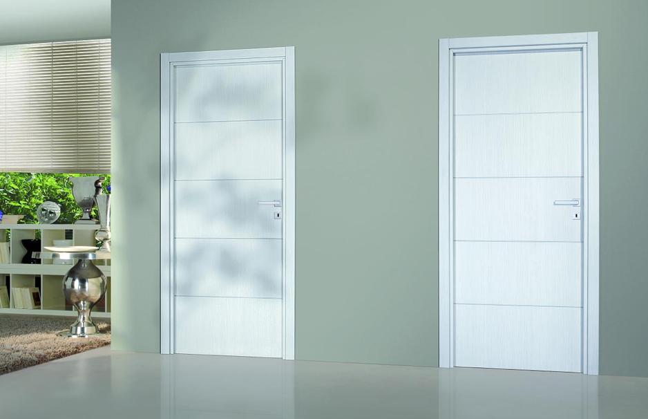 Bloc porte premium seymour ch ne blanc for Decoration porte noire