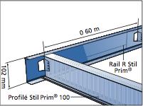Rail r stil prim - Largeur rail placo ...