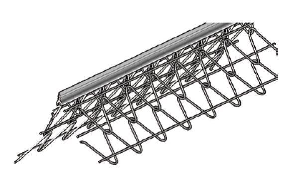 Profil angle ext avec jonc fin pvc 2062 eg for Baguette angle enduit exterieur