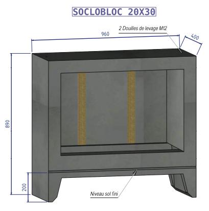 Nouveau Abris compteur d'eau Socobloc LO-05
