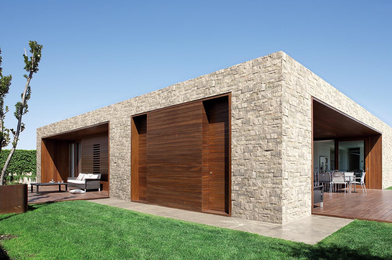 Pietre for Esterno casa moderna
